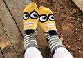 Гадкий я Миньоны серии из трех мерной мультфильм прекрасный мягкий, удобный хлопок женщин девушки случайные короткие носки