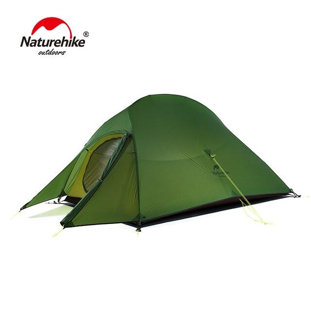 Naturehike Verbeterde Cloud Up 2 Ultralight Tent Vrijstaande 20D Stof Camping Tenten Voor 2 Persoon Met gratis Mat NH17T001-T