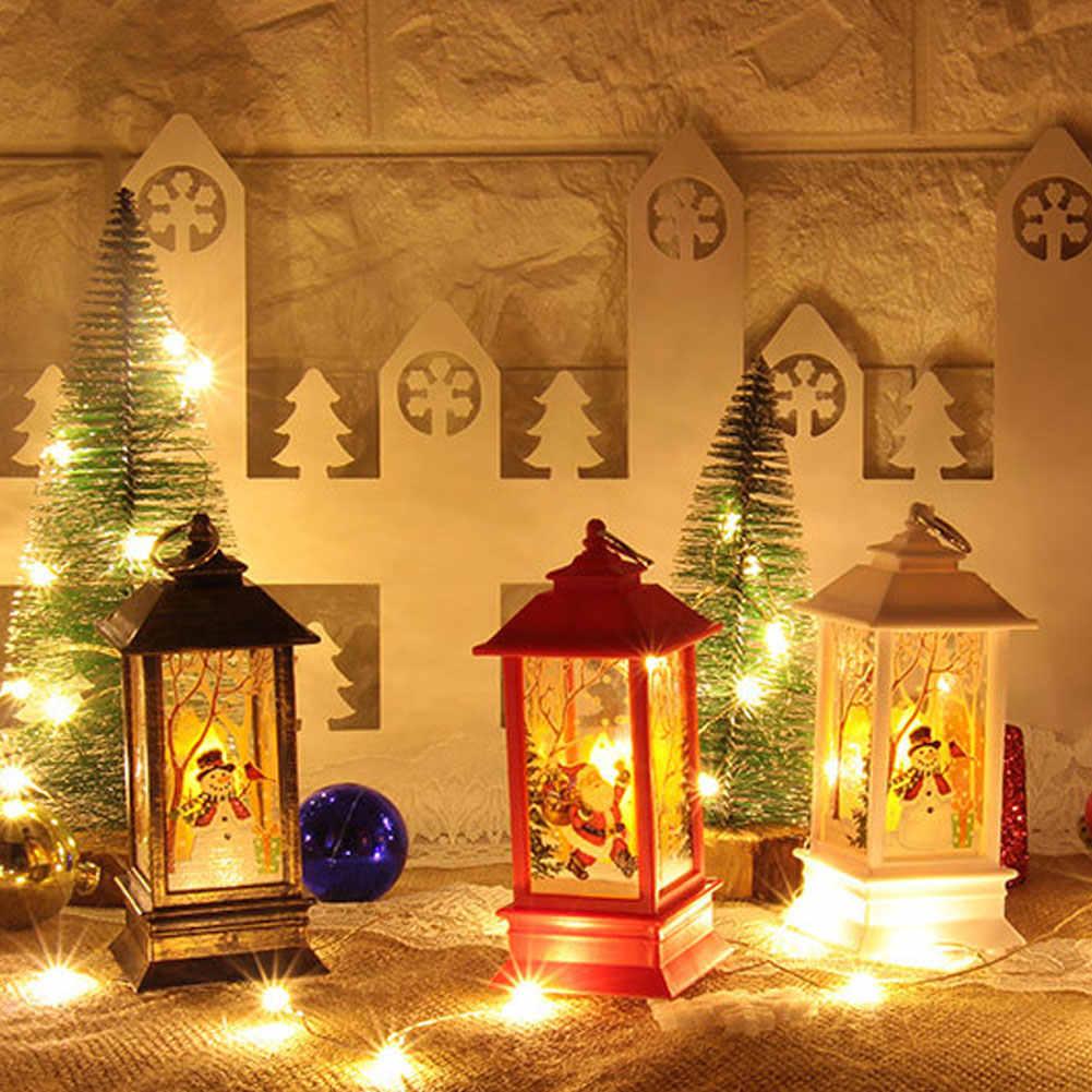 Oświetlenie bożonarodzeniowe boże narodzenie santa Claus Snowman Deer zamek lampa lampa wisząca lampiony dekoracyjne lampka nocna dekoracja na biurko chrystusa