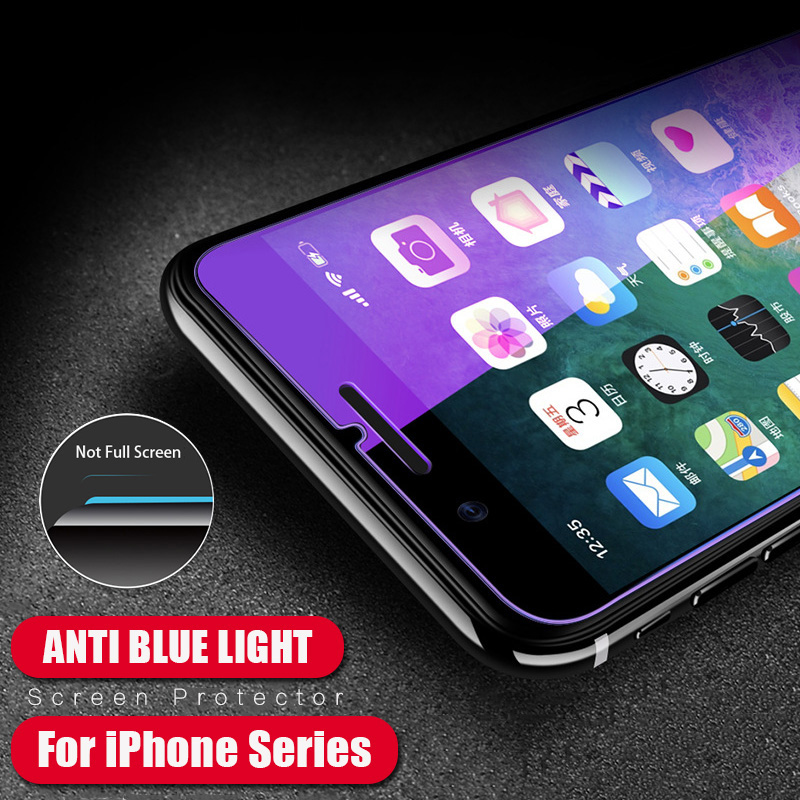KIP71384_2_Anti Blue Light Tempered Glass for iPhone 6 6S 7 8 Plus XS XR XS Max 9H 2.5D Protective Film