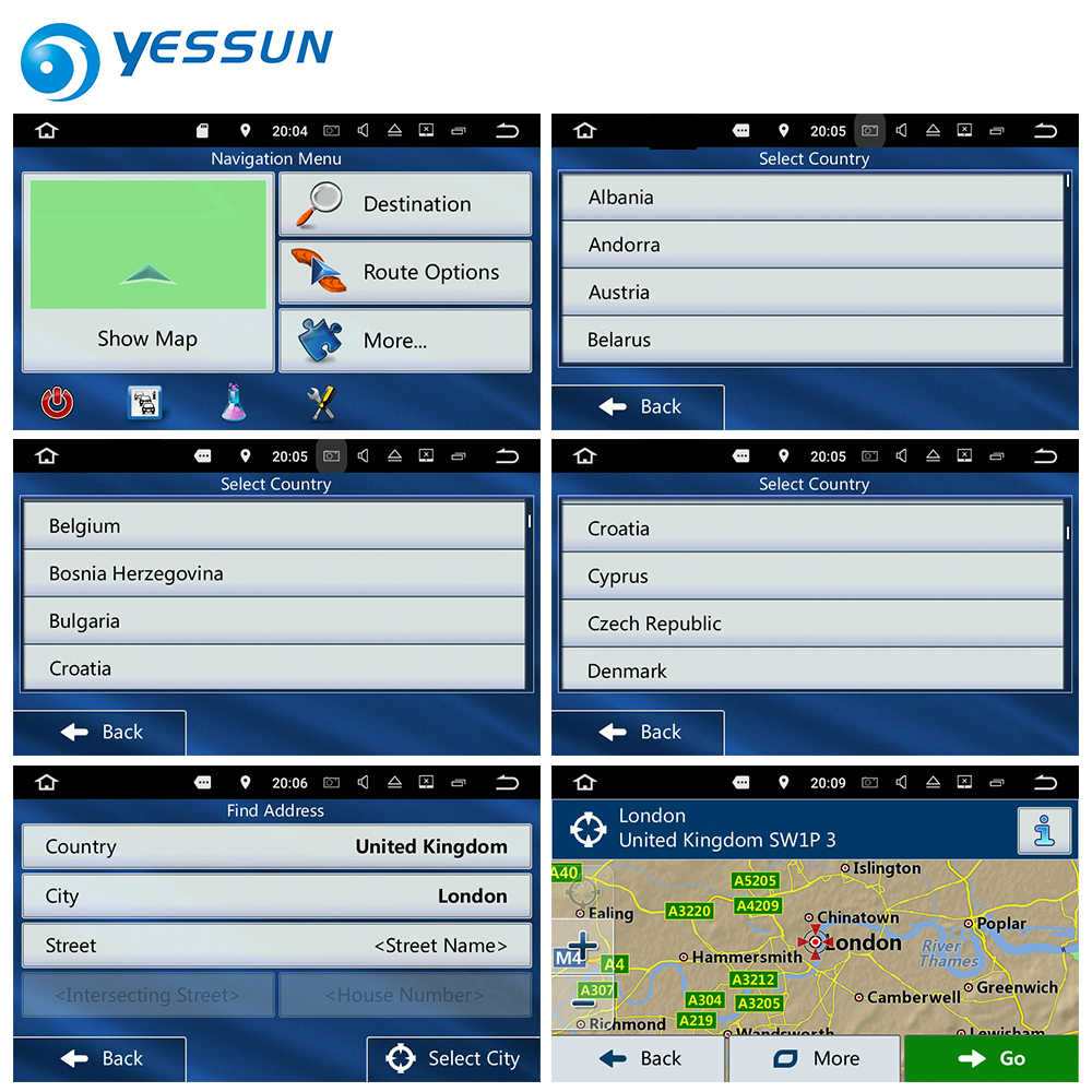 8GB SD Card GPS Navigation Maps card Android for Europe Ireland Nederland  Belgium France Germany UK Italy Spain Poland