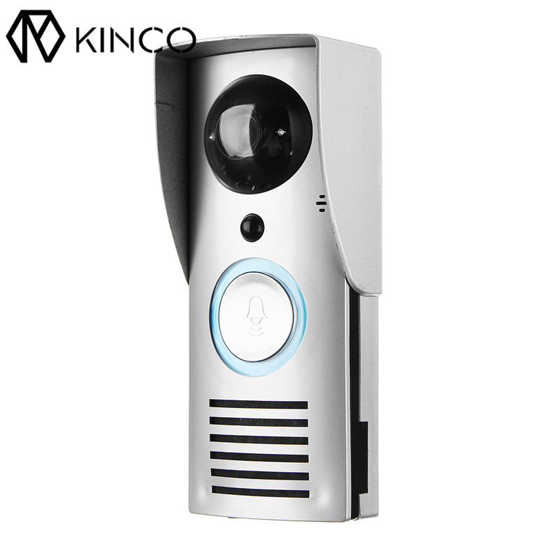 KINCO Wifi Remote Control Night Vision Video Doorbell HD Waterproof DTMF Motion Detection Alarm Smart Home for Smartphone kinco night vision video doorbell smart home wifi remote control hd waterproof dtmf motion detection alarm for phone