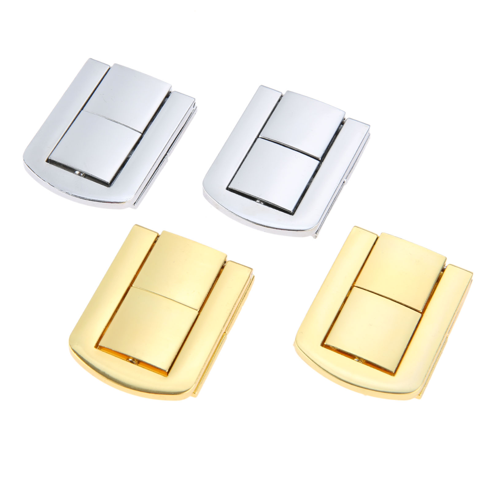 1Pc Antique Silver/Gold Lock Zinc Alloy Buckle Wooden Wine Gift Box Lock Buckle Box Latch Clasps With Screws 43x32m