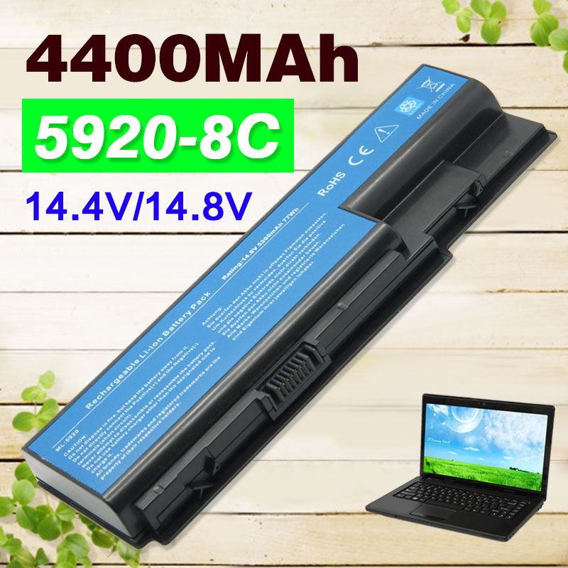 14 4v 4400mah For Acer Aspire 5230 5235 5310 5520 5710g