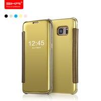 Hottest 2015 New Arrival Original Mirror Screen Flip Case For Samsung Galaxy S6 5 1 Fashion