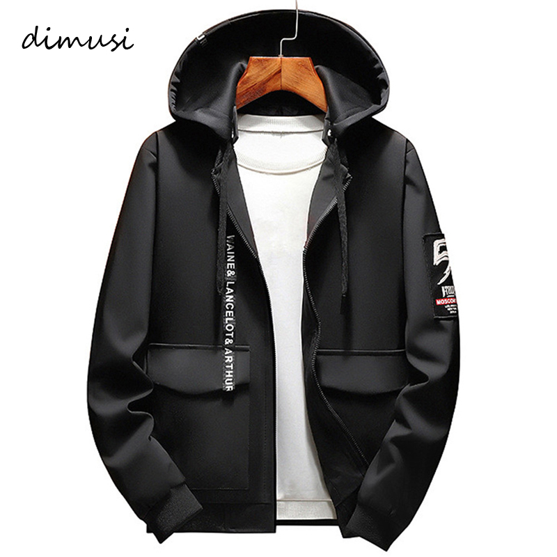 DIMUSI Spring Autumn Mens Bomber Jackets Male Fashion Anorak Hip Hop Streetwear Jackets Men's Patchwork Windbreaker Coats 8XL