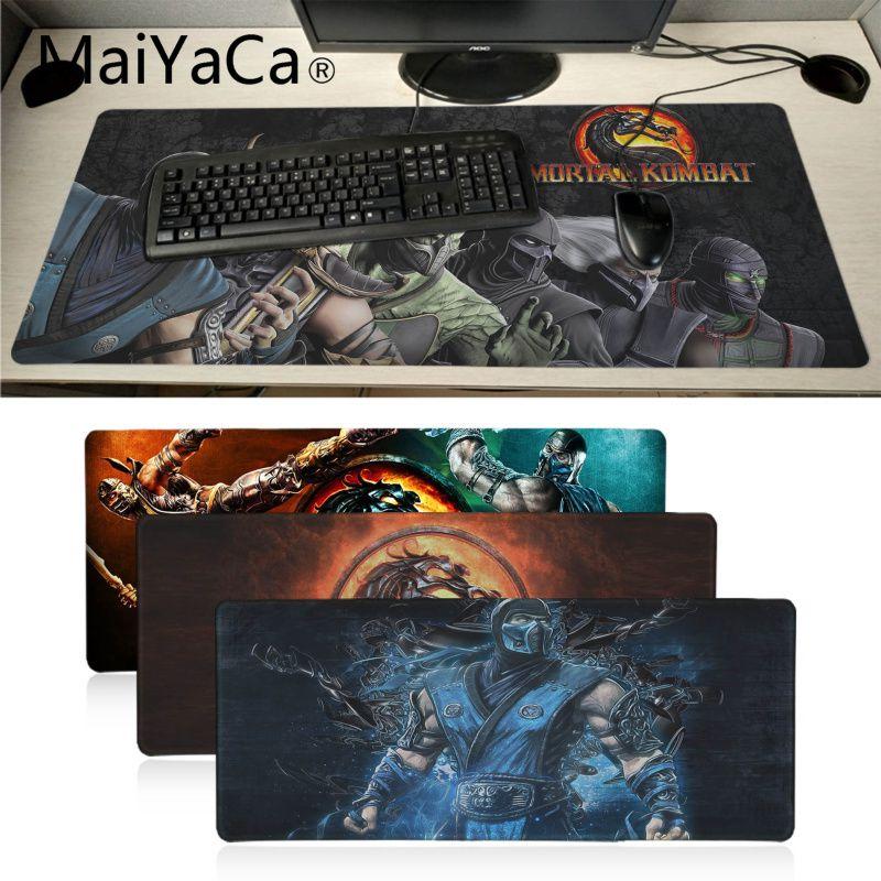 MaiYaCa  Mortal Kombat Game Gamer Play Mats Mousepad Anime Cartoon Print Large Size Game Mouse Pad For Dota2 Game Player