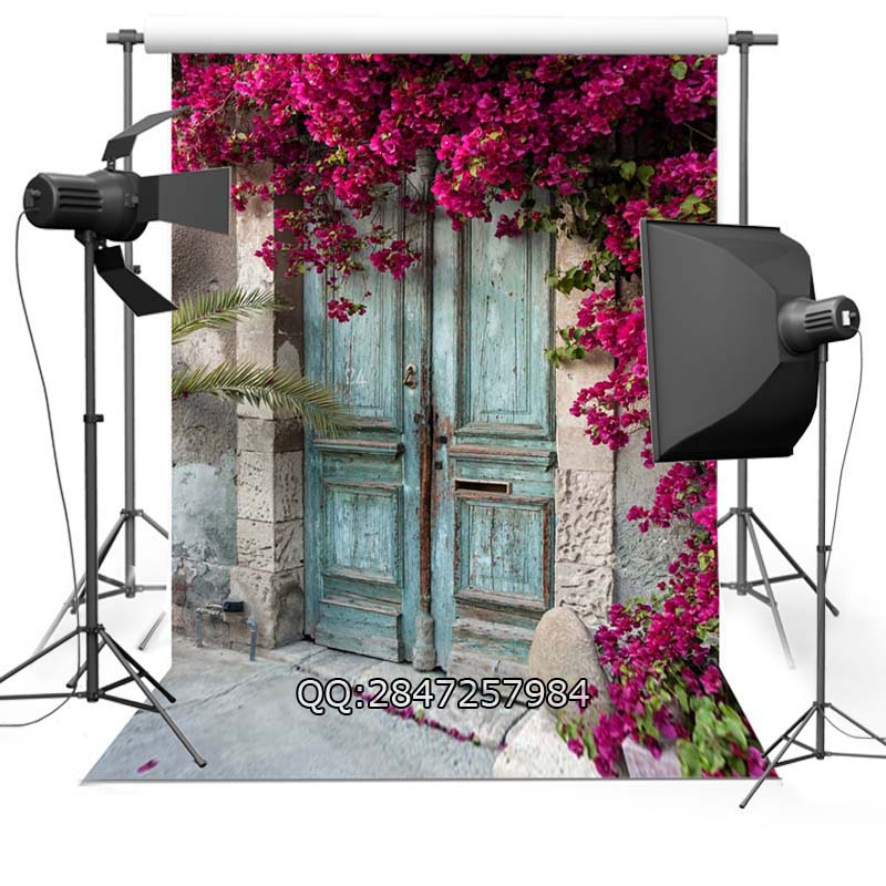 цены Peeling vintage Door wedding photo background advertisement vinyl photography backdrop F-2441