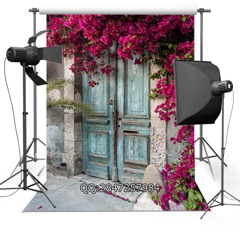 цены Peeling vintage Door wedding photo background advertisement vinyl photography backdrop F-2441