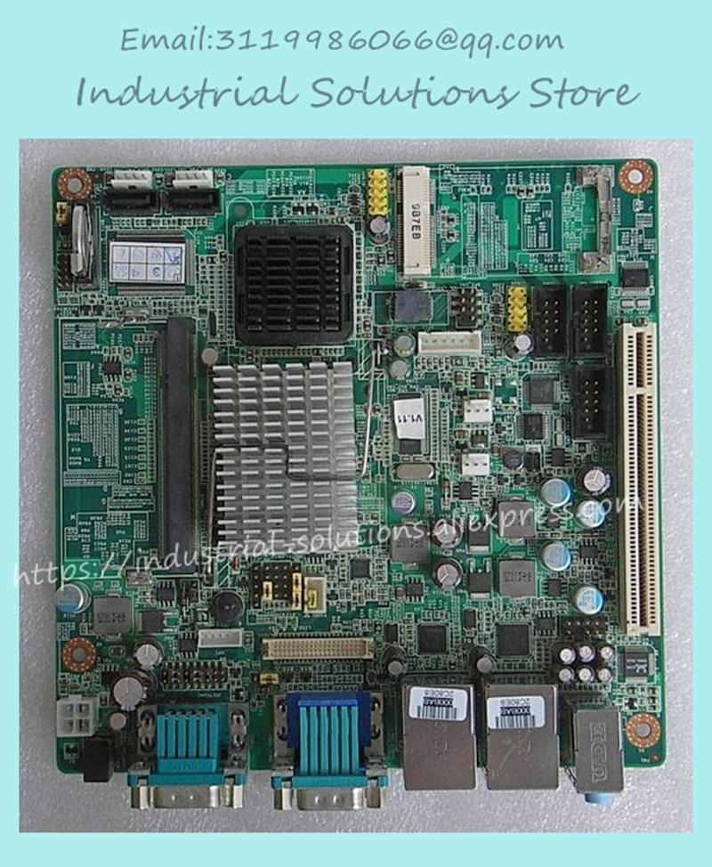 Mini-itx Motherboard AIMB-212N-S6A1E N450 Twin 6 Fan Serial Lvds 100% tested perfect quality m945m2 945gm 479 motherboard 4com serial board cm1 2 g mini itx industrial motherboard 100