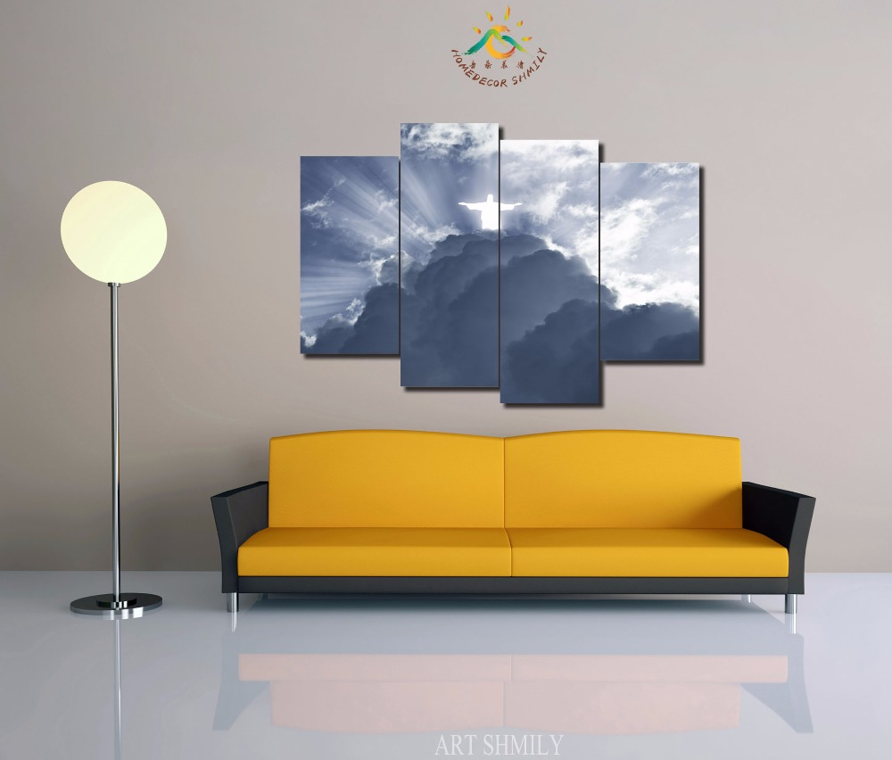3 4 5 Pieces Religion Jesus crossing wall art pictures HD painting ...