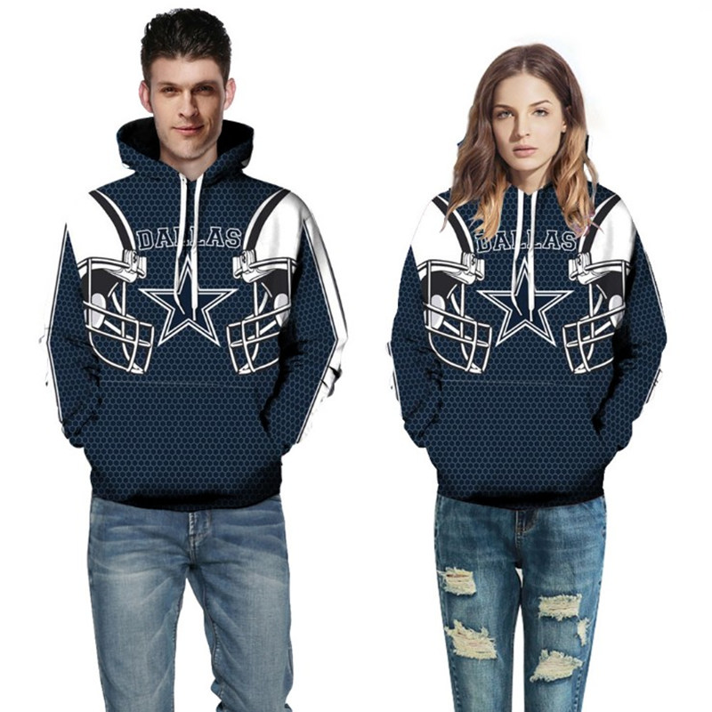 Adult USA Size Unisex Cowboys Eagles Raiders Patriots Spring Autumn American 3D Hoodies Coat Jacket Sweatshirt Pullover Top