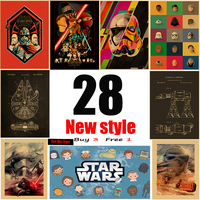 Star Wars 28 New style ART Retro Poster Kraft Paper Poster Wall Sticker Home Decora
