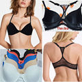 Fashion Women Bra Front Closure Sexy Lace Y-line Straps Back Thin Padded Push Up Underwear Lingerie 32-44 A B C D DD