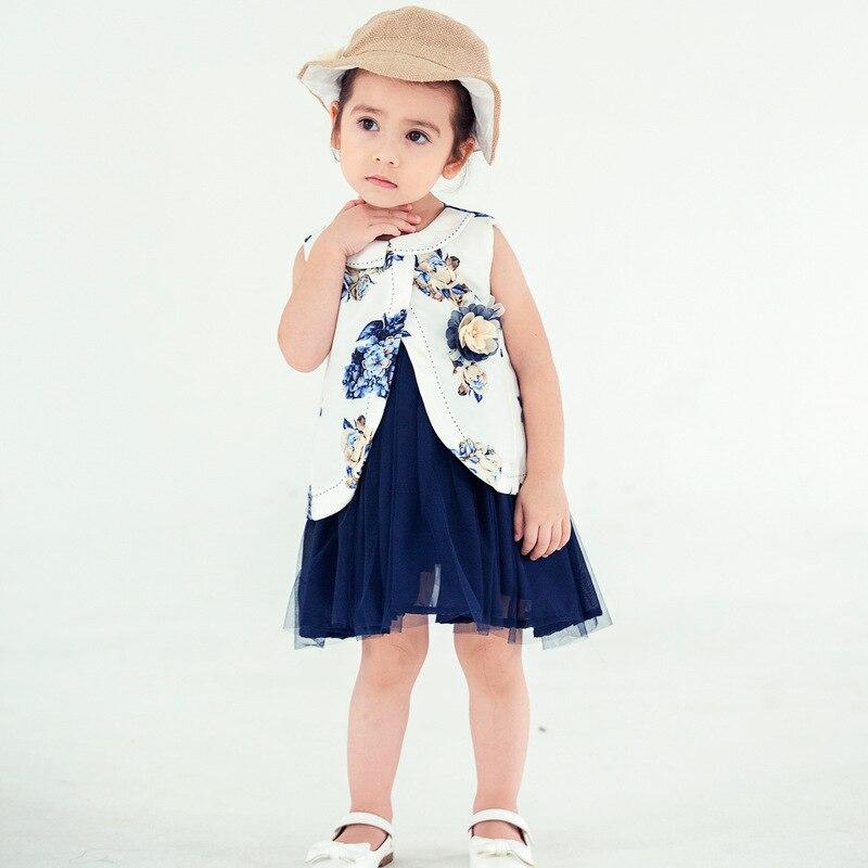 Baby Sleeveless Dresses Infant Girl Clothing Short Sleeve Flower Baby Girls Clothes