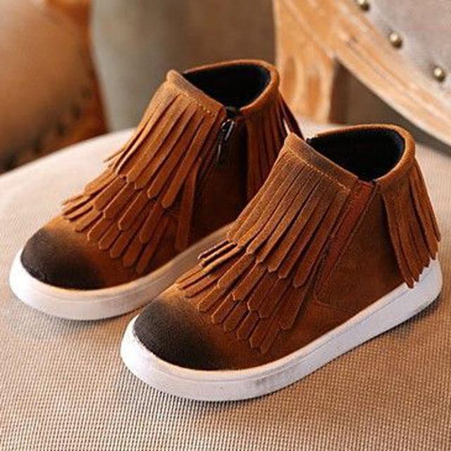 2017 niños del invierno botas de flecos de moda girls shoes niño niños causal shoes niños zapatillas unisex