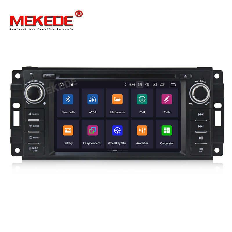 MEKEDE DSP Android 9,0 reproductor de dvd del coche radio GPS de audio para Jeep grand wrangler patriota brújula viaje comandante Chrysler 300C