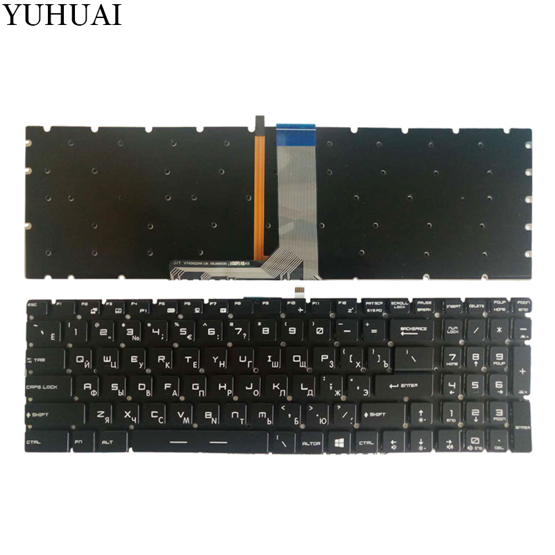 NEW Russian laptop keyboard For MSI MS-16L1 MS-16L2 MS-17A1 RU keyboard laptop keyboard for msi ms 16ga ge640 ms 16g5 ge620 ms 1756 ge70 ms 16ga ge60 black us english