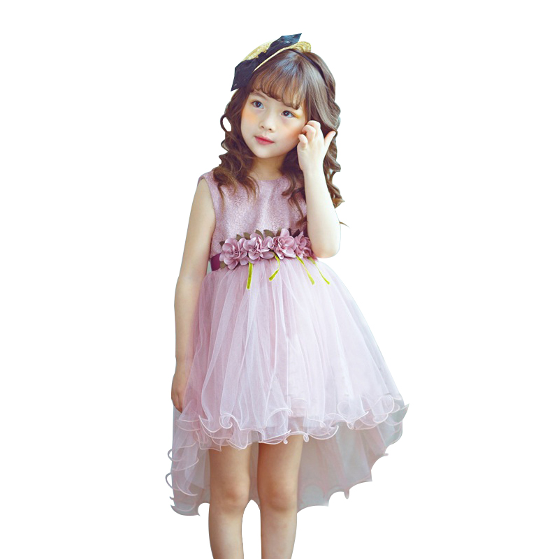 Girls Dresses Kids Princess Dress For Girls 2018 Spring Summer Patchwork Costumes Wedding Party Baby Children Sleeveless Clothes flower girl dresses summer vestidos children wedding dress 2018 brand princess costumes for kids clothes baby girls party dress