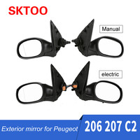 SKTOO For Peugeot 206 207 Citroen C2 manual electric reversing mirror assembly rearview mirror