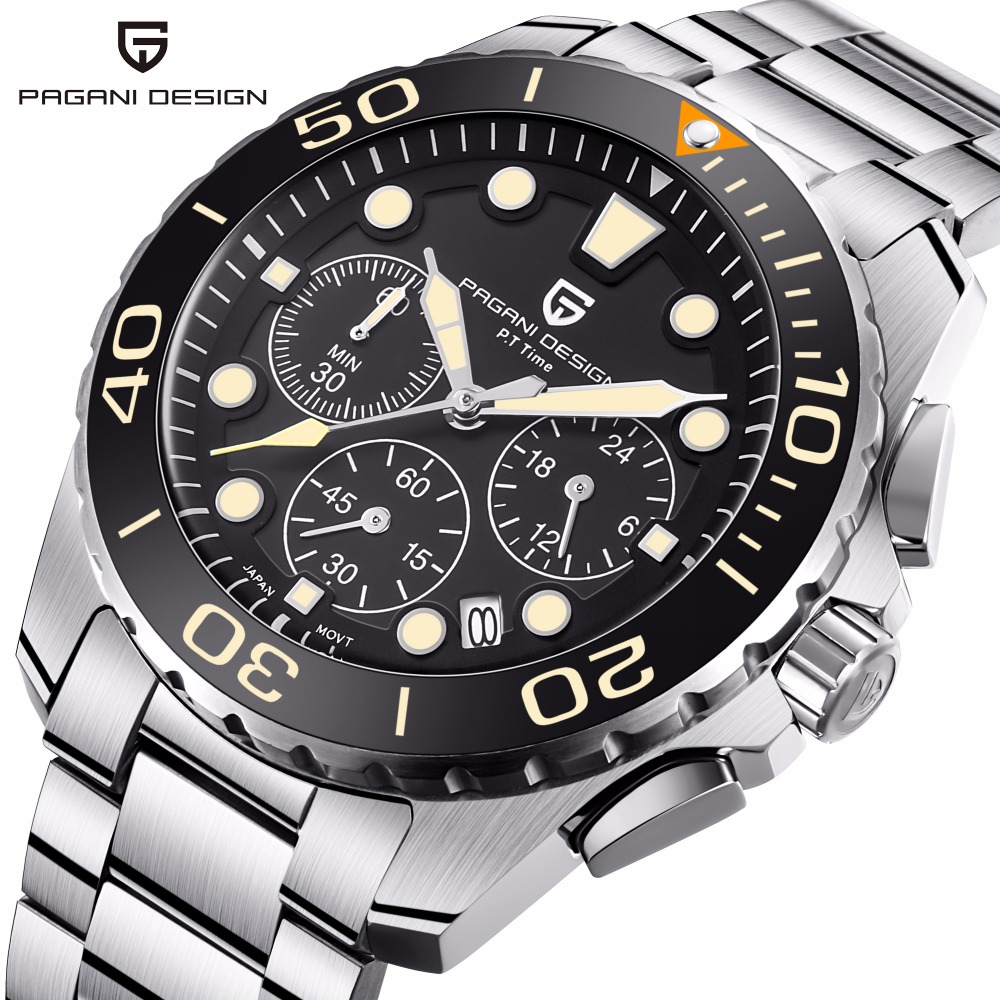 Pagani Brand Luxury Quartz Men Watch Waterproof Sports clock Military Male wrist Watch Business Fashion Casual Relogio Masculino цены