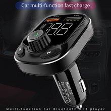 QC 3,0 Dual USB FM микрофонный передатчик FM Универсальный громкой связи Bluetooth гарнитура для Авто 12 V-24 V Bluetooth автомобильный набор, свободные руки, MP3