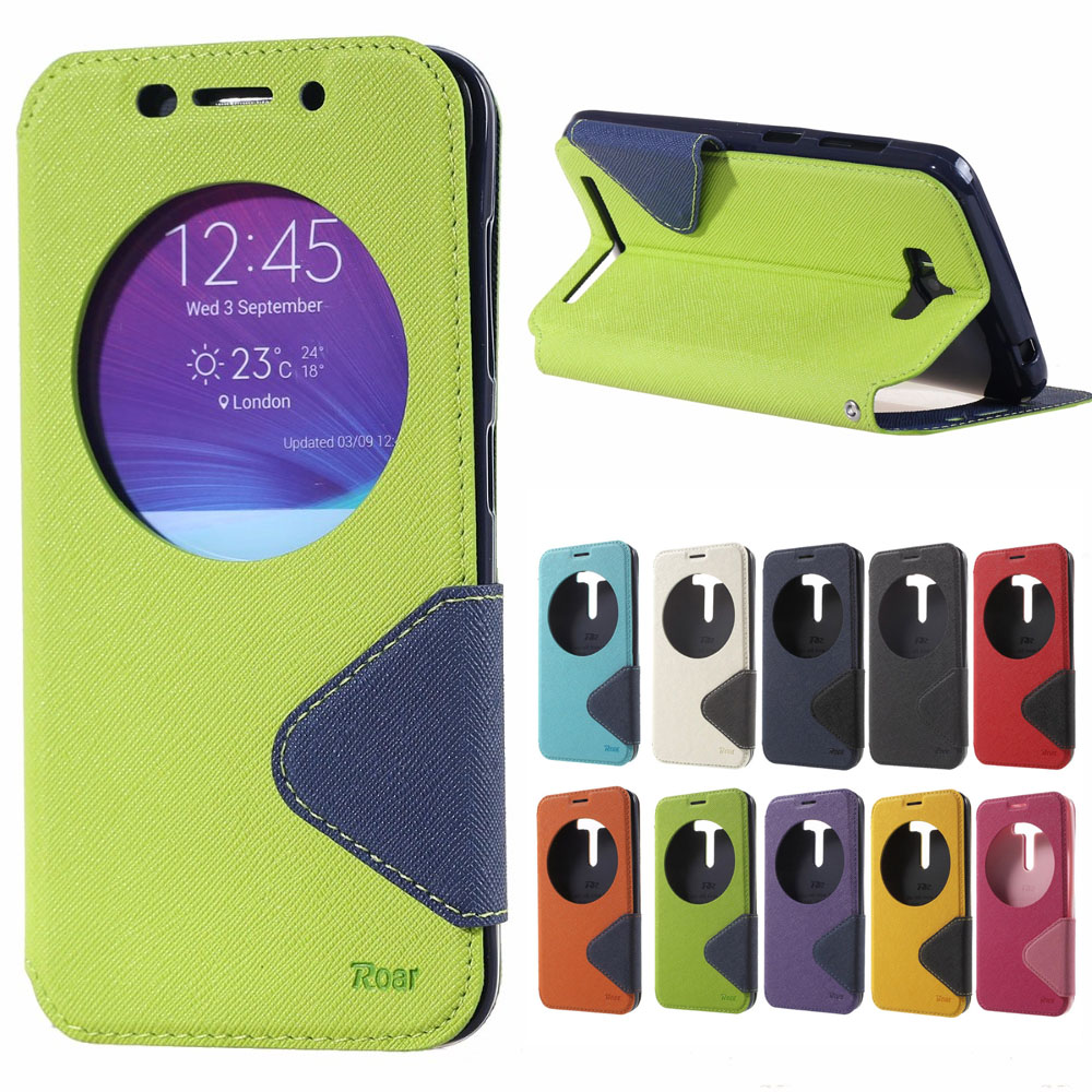 ROAR Case for Asus Z010D Zenfone Max ZenfoneMax ZC550KL Flip Case Phone wallet Leather Cover for ASUS_Z010D Z010DA coque funda