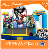 Super Man with Powerful Spiderman Inflatable Bounce Toys Inflatable Jumping Castle Combo For Boys