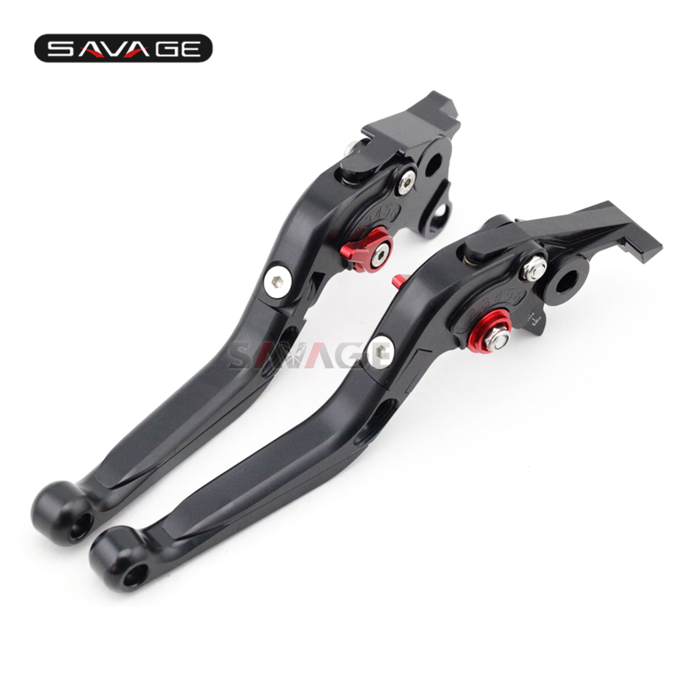 Brake Clutch Lever For SUZUKI GSF 650/1200/1250 BANDIT GSX650F GSX1250F GSX1400 Motorcycle Adjustable Folding Extendable Black billet extendable folding brake clutch lever for suzuki gsx 650 f dl1000 v storm sv1000s tl1000r gsf 1200 1250 bandit n s 01 06