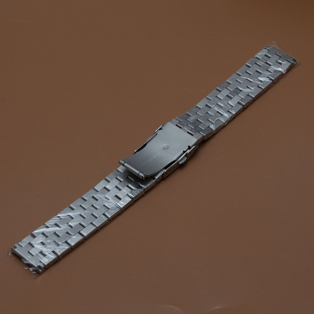 Mat urbåndrem Upoleret armbånd 18mm 20mm 22mm 24mm 26mm sølv - Tilbehør til ure - Foto 5