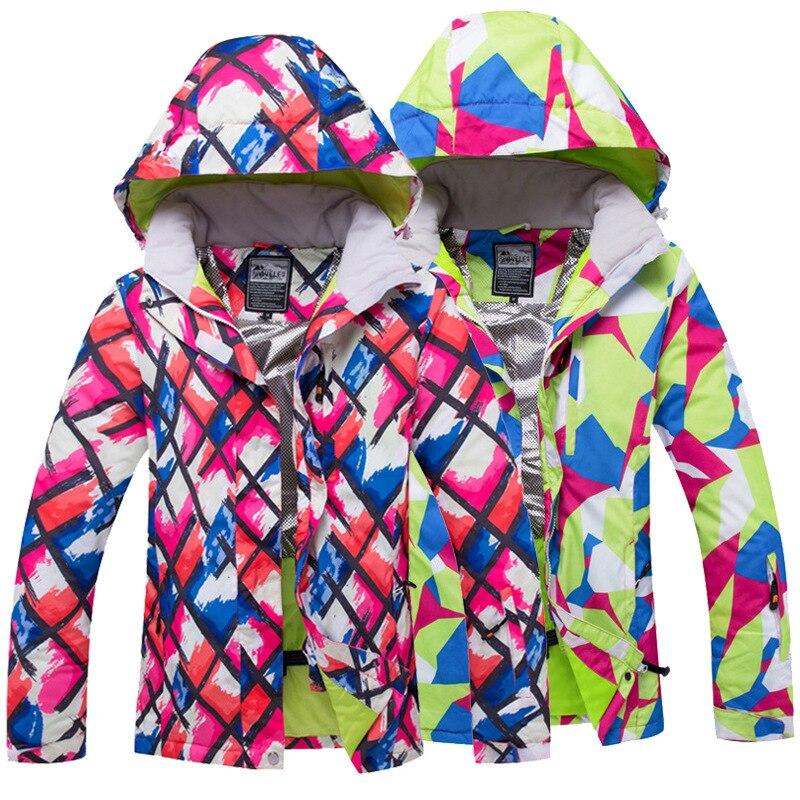 2018 nouveau Plaid Combinaison De Ski Féminin Coupe-Vent Imperméable Épais Chaud Respirant Ski Vestes Unique Et Double Conseil de Ski Vêtements