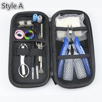 Pilot Vape Electronic Cigarette DIY Tool Bag Tweezers Pliers Wire Heaters Kit Coil Jig For Packing