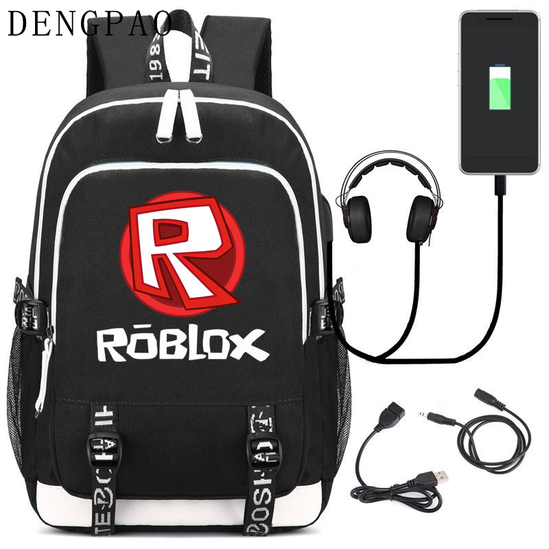 DENGPAO roblox School bag laptop backpack for teenager boys girls fashion trend cute children sac a