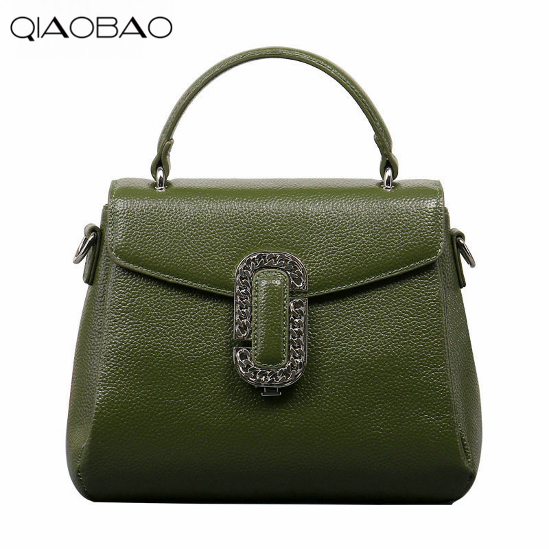 QIAOBAO Spring New First Layer Of Leather Shoulder Messenger Female Bag Korean Fashion Trend Envelope Bag bag female new genuine leather handbags first layer of leather shoulder bag korean zipper small square bag mobile messenger bags
