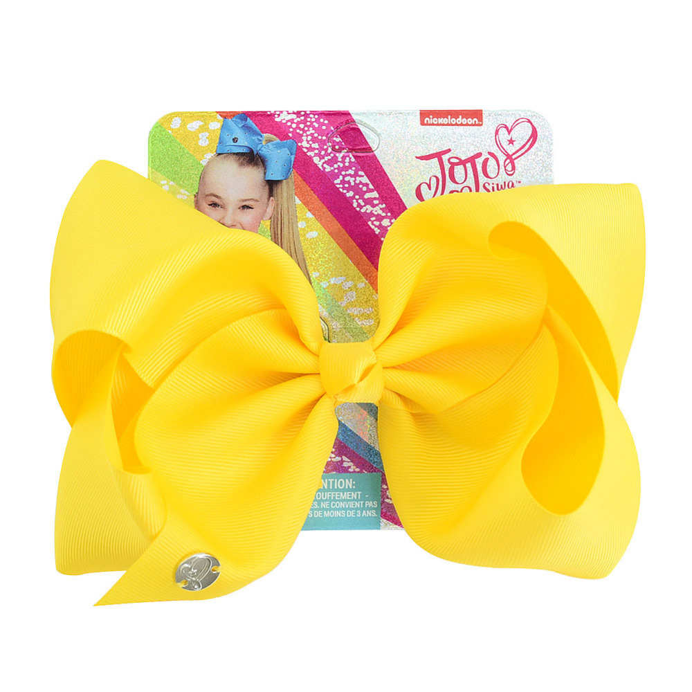 Jojo Siwa Hair Clip Solid Color 8 Inch Large Hair Bow Handmade Ribbed Bow With Alligator Clip Kids Hair Accessories Jojo Bows