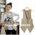 Free shipping , High quality Plus size Fashion women suit Waistcoat , Causul Vest , Sleeveless Slim lady Vest