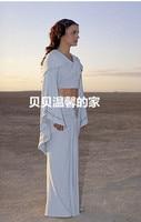 Customize movie Star Wars cosplay Padme Amidala White Dress Cosplay Costume Uniform