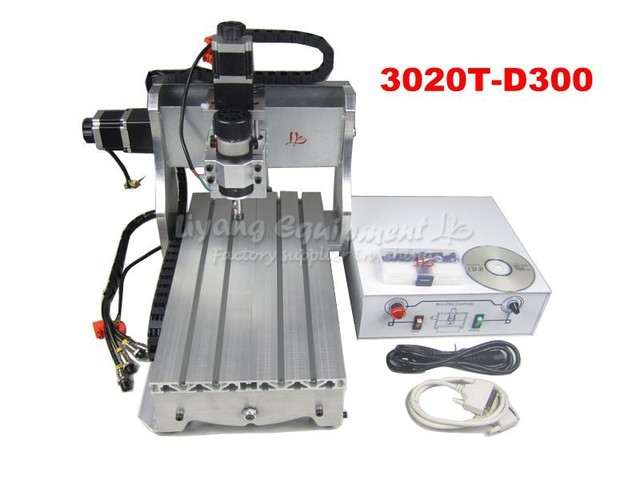 No tax  to Russia! woodworking machines from china 3020T-D 300W spindle motor cnc router Working for wood PCB plastic