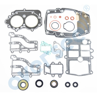 OVERSEE Gasket Kit For 15HP 2 stroke for Yamaha Parsun Hidea 6E7 W0001 A1 2 Stroke Outboard Engine