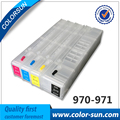For HP970 971 Refillable Ink Cartridges Empty for HP X451dn X551dw X476dn X576dw with ARC chips