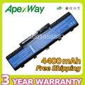 Apexway 6 celdas 4400 mah 11.1 v batería del ordenador portátil para acer as09a31 AS09A41 AS09A71 para eMachines E525 E725 E525 E725 para Aspire 5732Z
