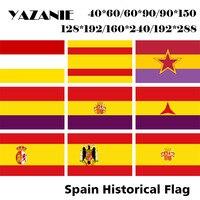 YAZANIE любой размер второй Испанский флаг с звездами международных отряд торговый морской флаг Испании (1931-1939) флаги