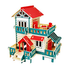 Educational Toys 3d Puzzle Jigsaw Assembling Wooden Toys Diy Model Cottage Small Building