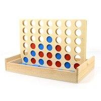 חדש הכחול/אדום ארבע בשורה משחק עץ בשורה 4 כיף מסיבת משפחה בינגו משחק קלאסי תינוק צעצוע חינוכי לילדים מתנות