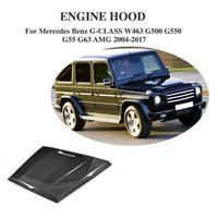 Carbon Fiber Auto Engine Front Hood Cover For Mercedes Benz G CLASS W463 G500 G550 G55