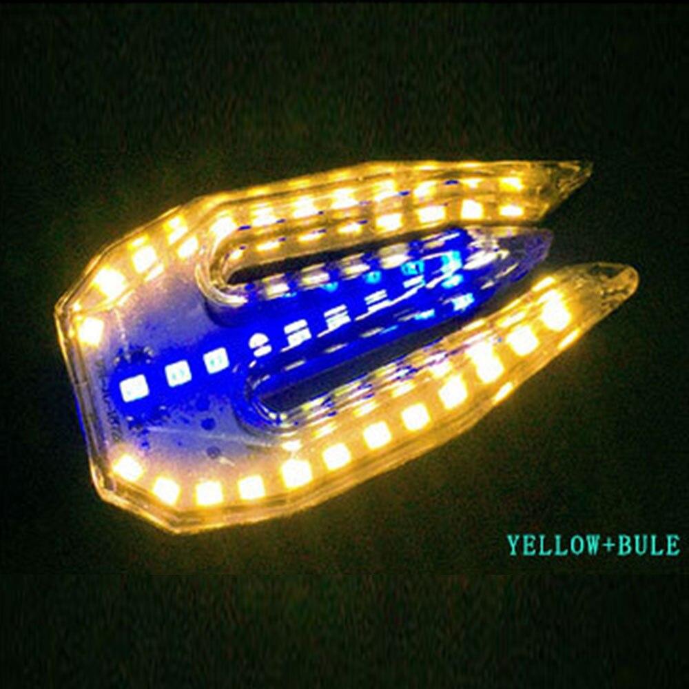 Мотоцикл DRL Замена поворотного сигнала Универсальный двойного назначения сигнал поворота прочный ремонт сигнальная лампа, индикатор света - Цвет: Yellow Blue