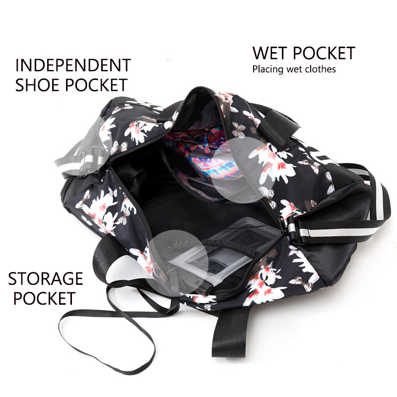 New Women Gym Bag for shoes Waterproof polyester top female sports bag fitness women shoulder bag backpack female sports