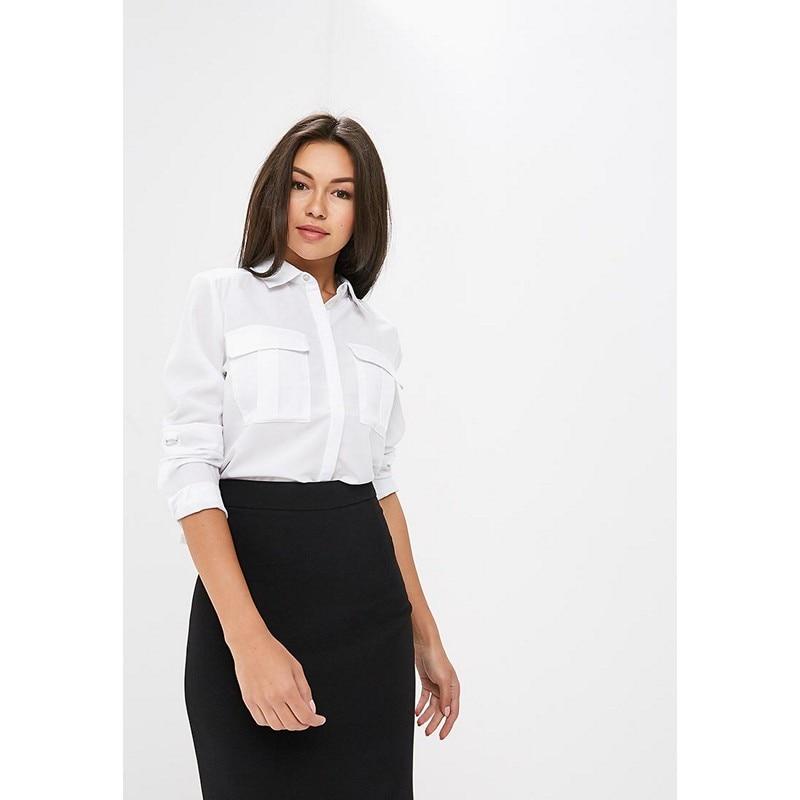 Blouses & Shirts MODIS M182W00133 blouse shirt clothes apparel for female for woman TmallFS plus collar knot blouses