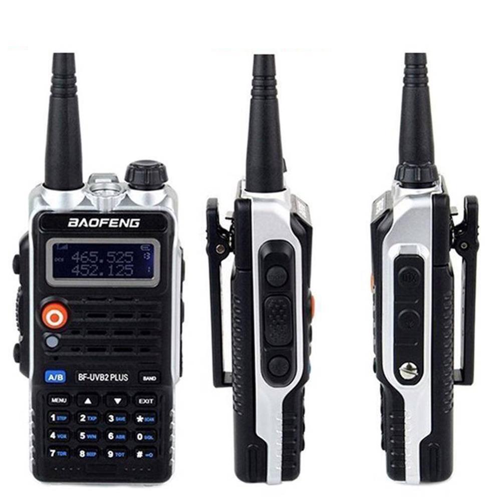 Baofeng BF-UVB2 Plus 8W High Power 7.4V 4800mAh Li-ion Battery LED Two Way Radio Walkie Talkie Dual Band UVB2 With Earphone