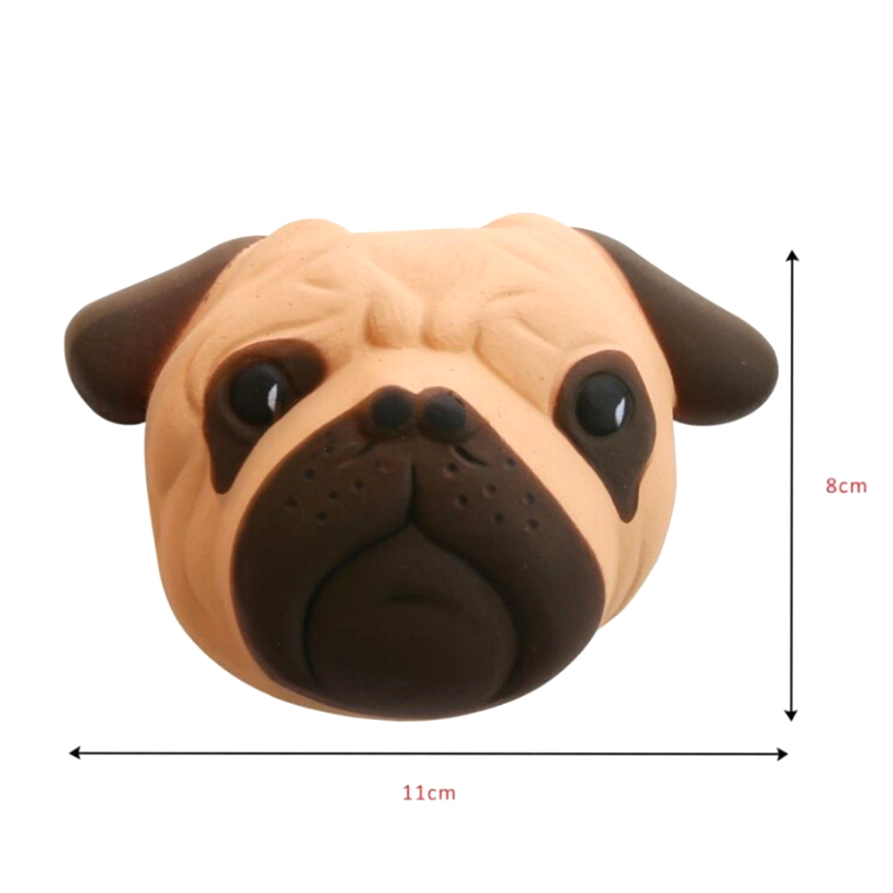 Mobile Phone Accessories Antistress Ball Pug Dog Face Mini Squeeze Squishy Toys Slow Rising Squeeze Stretchy Animal Healing Stress Kids Adults Toys